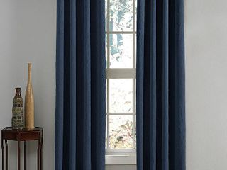 63 x50  lenox Gommet Top Room Darkening Curtain Panel Navy   Curtainworks   Set of 2