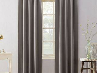 95 x40  Kenneth Energy Saving Blackout Tab Top Curtain Panel Gray   Sun Zero   set of 2