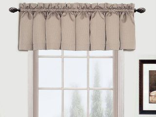 United Curtain Metro Woven Straight Valance  54 by 18 Inch  Natural