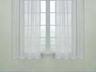 Curtain Fresh Odor Neutralizing Sheer Voile Grommet Curtain Panel   set of 2