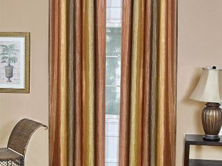 Curtain Panels Achim Tan Ombre Design   set of 2