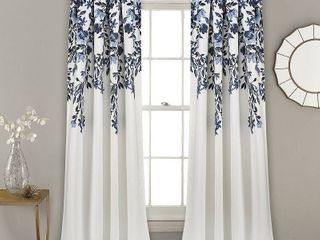 Porch   Den Elcaro Floral Room Darkening Window Curtain Panel Pair  Retail 79 98