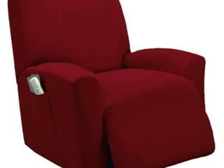 One Piece Stretch Recliner Slipcover Stretch Fit lazy Boy Recliner Cover   Burgundy
