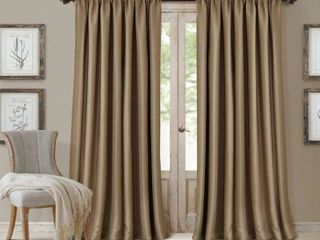 Elrene All Seasons Faux Silk 52  x 84  Blackout Curtain Panel