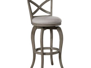 Set of 2   Ellendale Swivel Counter Height Stool Gray   Hillsdale Furniture  Retail  282 99