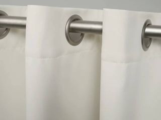 loraine Solid Blackout Thermal Grommet Curtain Panels  Set of 2  84 inch