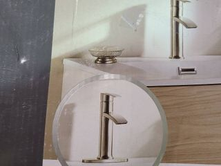 Giagni Sorizio Brushed Nickel 1 handle Single Hole 4 in Centerset Bath Faucet