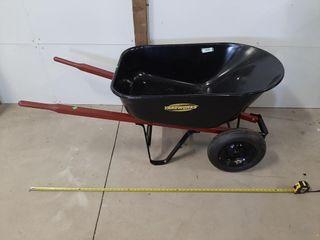 Yardworks Dual Wheel Wheelbarrow