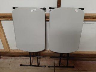 Pair Of Plastic Miniature Folding Tables