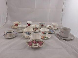 Matching Tea Cup And Saucer Set Including Royal