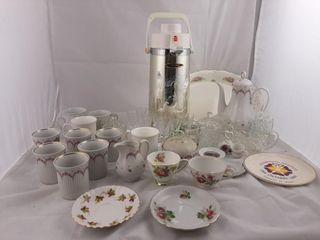 Mugs  Tea Cups  Saucers  Tea Pot Platter  Etc
