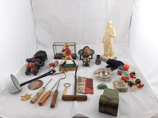 lot Including Titanic Figurine  ladle  Mini