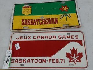 Saskatchewan license Plates