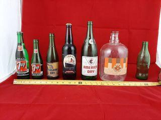 7up Bottles  Niagara Dry  America Dry  A w  Coke