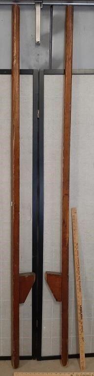 Pair Of 7  Tall Wooden Stilts