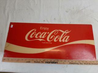 Coca cola Plastic Sign