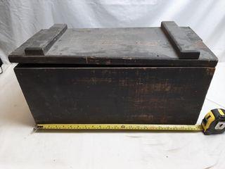 Vintage Wooden Box 22  X 10 1 2  X 11 1 2