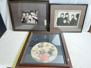 Pair Of Framed Beatle Photos And Framed Album