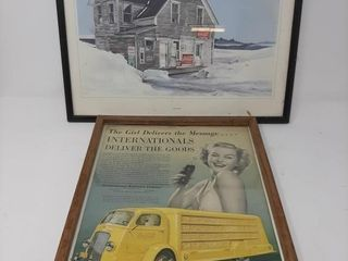 Pair Of Vintage Coca cola Advertisements