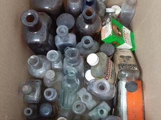Vintage Bottles And Tins