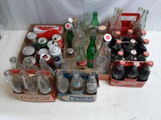 Vintage Pop Bottles And Beer Cans