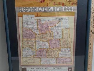 Vintage Saskatchewan Wheat Pool Poster