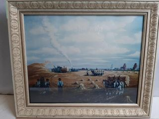 Vintage Saskatchewan Farming Painting