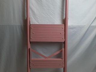 42  Pink Metal Step ladder