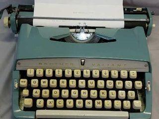 Vintage Brother Valiant Metal Typewriter