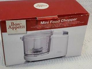 Bon Appetit Mini Food Chopper New In Box