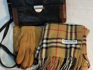 Vintage leather Derek Alexander Handbag Scarf