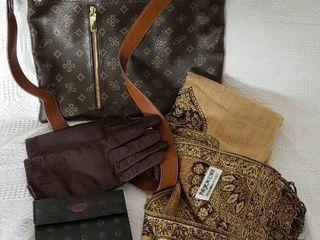 Cross Body Handbag Wallet Scraf   Gloves