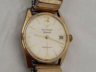 Vintage Wittnauer Geneve Swiss Mens Watch Works