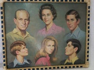 Vintage Royal Family Framed Tray 16  X 20