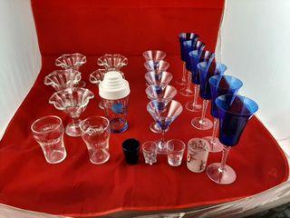 Martini Glasses  Cobalt Blue Wine Goblet  Ice