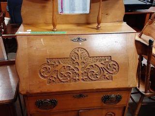 Vintage Drop Front Desk  Needs A little Tlc