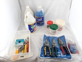 Aviation Tin Snip Set  Car Wash Fluids  Deck And
