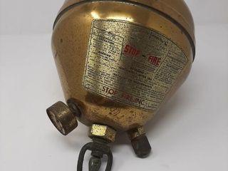 Antique Brass Vaporizing liquid Fire Extinguisher