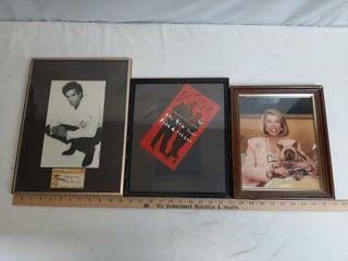 Trio Of Signed Celebrity Memorabilia  Penn And