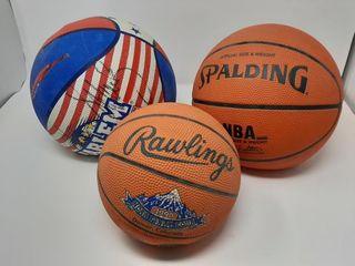 Trio Of Basketballs