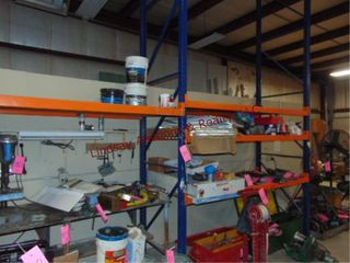 1 section of pallet racking w  shelves approx 9  x