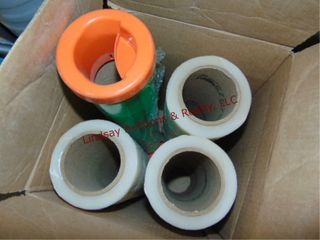 6 partial rolls of shrink wrap
