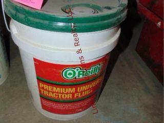 1 full 5 gal bucket of tractor fluid