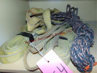Approx 5 various size straps   ropes