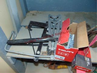 Group of misc Hilti fasteners  Rigid metal tray