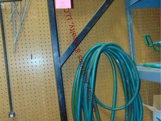 2 ladder racks  garden hose   other