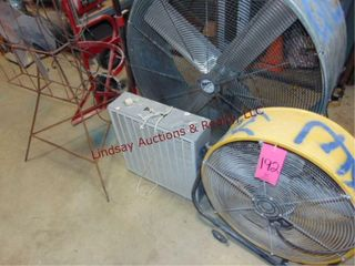 Group w  3 various size fans