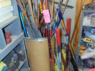 large group of yard   garden tools  shovels
