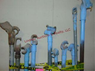 13 various size pipe benders