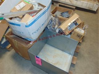 1 pallet of misc  wires  chain  switch box